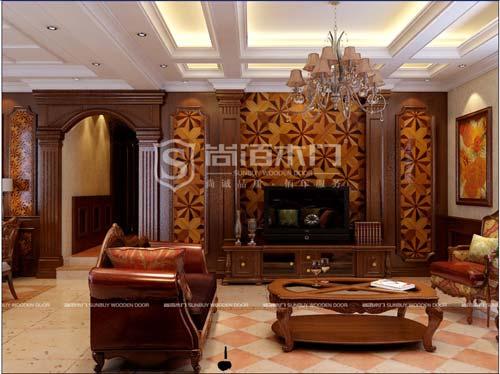 尚佰木门护墙板—米兰印象系列图片